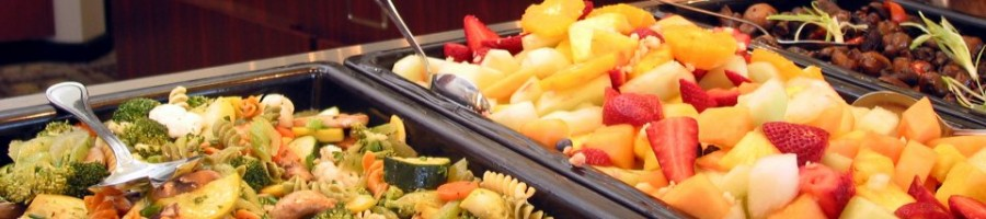 Rotating menu banquet style buffet service